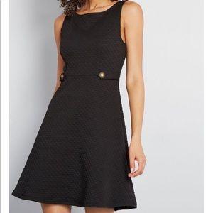 Black 60s Signature A line dress